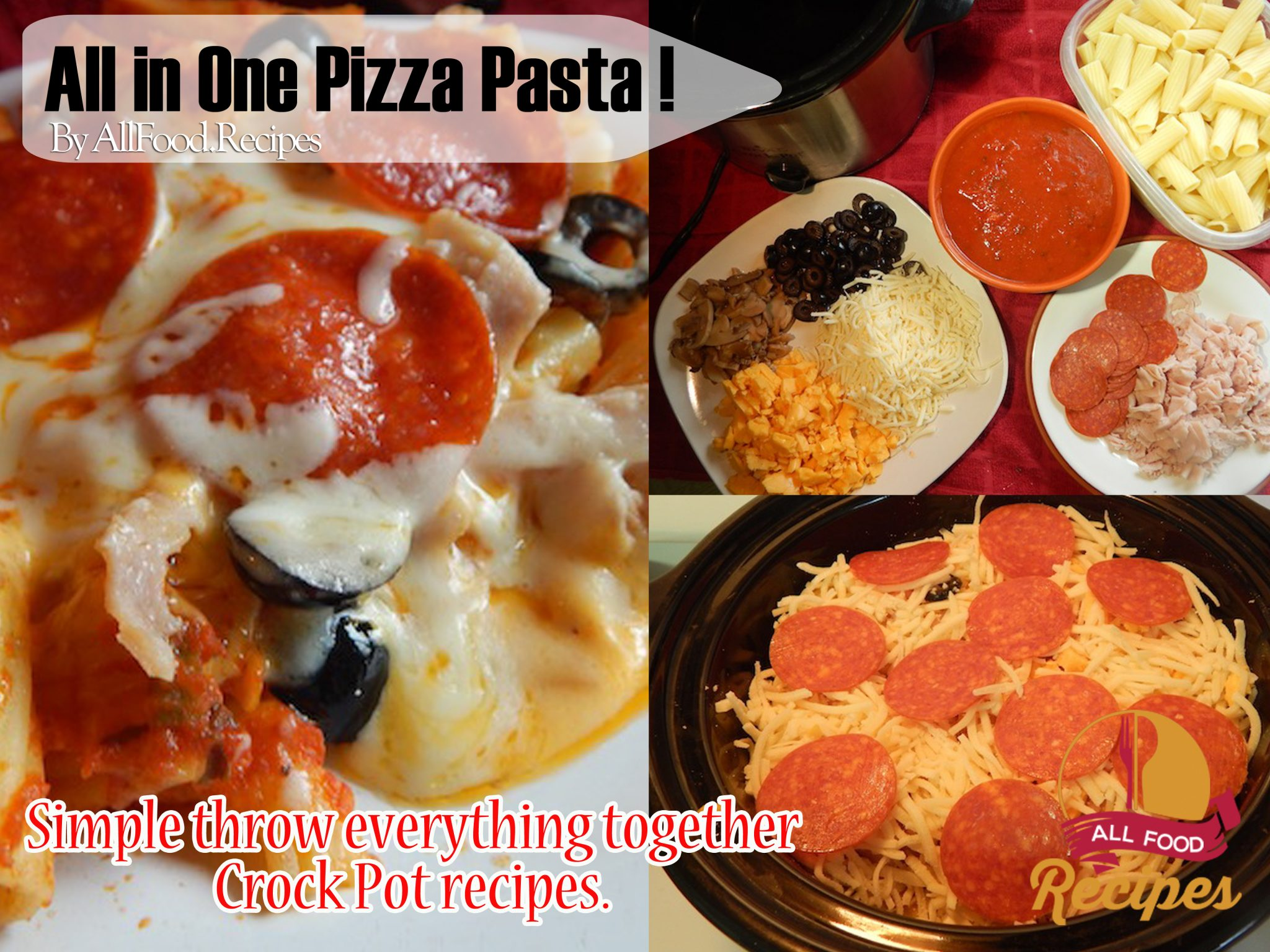 all in one pizza pasta