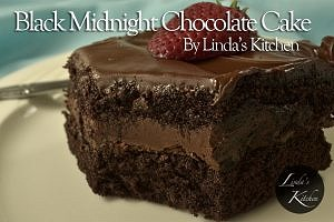 Black Midnight Chocolate Cake