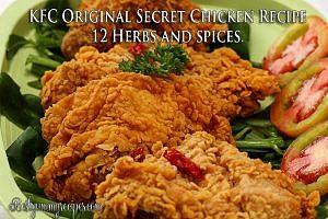 KFC the original secret chicken