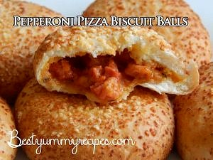 Pepperoni Pizza Biscuit Balls
