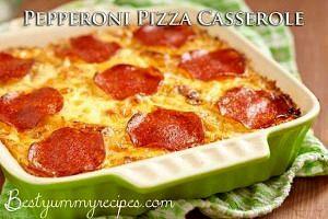 Pepperoni Pizza Casserole