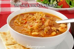 Sausage Chicken Gumbo Soup
