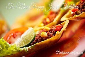 Tex Mex Sloppy Joe in Tortillas