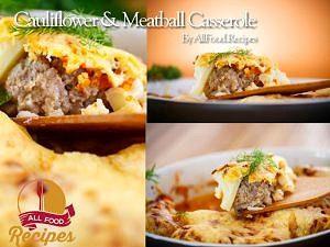 Cauliflower And Meatball Casserole