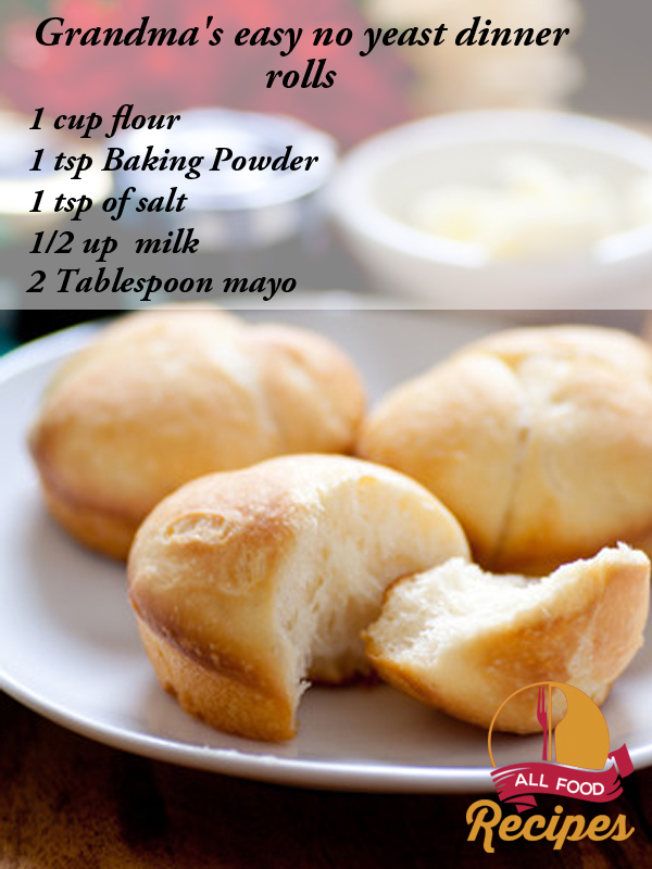 Sweet Dinner Rolls Without Yeast